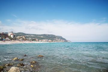 Scenic view of Pietra Ligure, Liguria, Italian Riviera