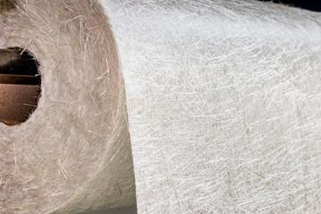 Fiberglass fabric composite roll material