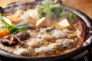 牡蛎の土手鍋