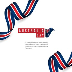 Happy Australia National Day Vector Template Design Illustration