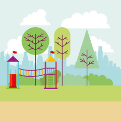 park city playground tree nature
