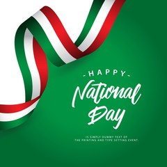 Happy Italy National Day Vector Template Design Illustration