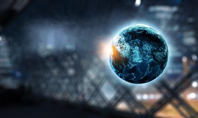 International business concept. Mized media