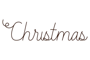 merry christmas label isolated icon