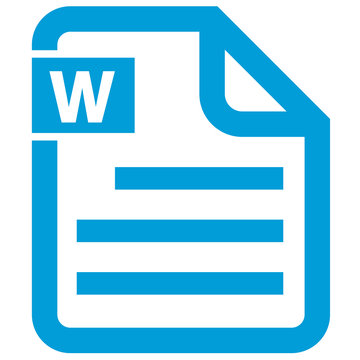 digital file office icon.. Microsoft office word doc docx file icon