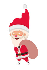 santa claus with bag of gifts avatar character