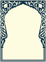 Oriental vector ornament, used for decoration of frames and borders. Useful content for printing and for designers.