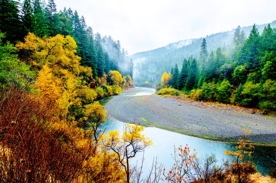 Eel River view from the Avenue of the Giants road, Humboldt Redwoods State Park, Northern California Nov. 21, 2018_DSC1253