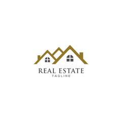 real estate logo design vector