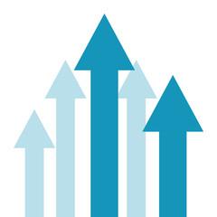 business arrows up financial profit