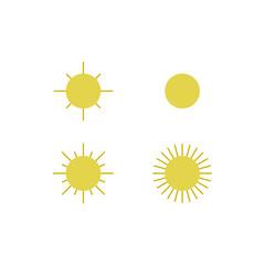 sun emoticon child cute vector illustration concept design