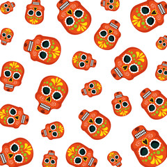 masks of the santa death pattern