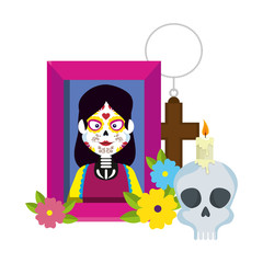 picture of woman with catrina costume