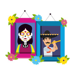 picture of couple mexican characters