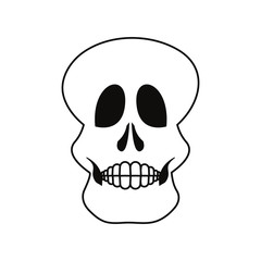 skull human on white background