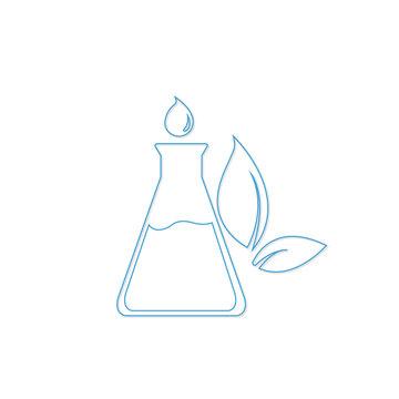 chemical chemistry pharmacy laboratory icon vector