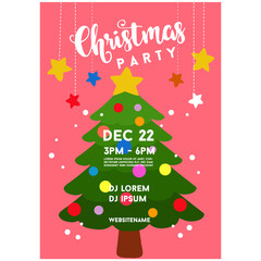 christmas poster tree with christmas tree