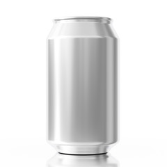 Blank Aluminum Can with Free Space for Your Design. 3d Rendering