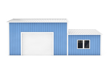 Office and Storage Warehouse Building. 3d Rendering