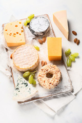 Wall Mural - Different kinds of cheeses