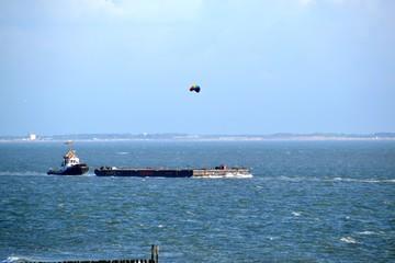 Transport Schiff Nordsee Wellen Zeeland