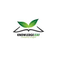 Knowledge leaf logo