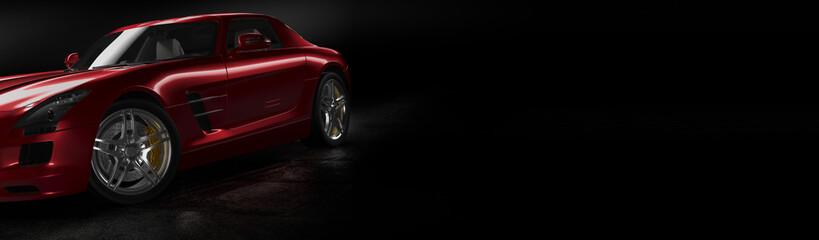 red sport car banner