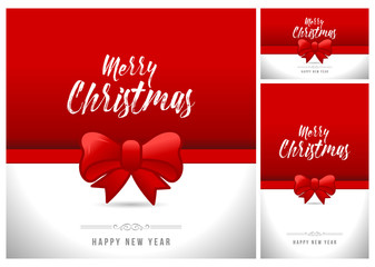Christmas Background with Bow. All elements are on separate layers. Vector, illustration eps10 illustration, eps10.