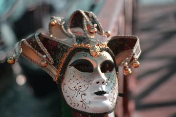 a carnival mask at Piazza San Marco