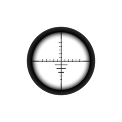Automatic sniper collimator icon with blurred sight crosshairs.