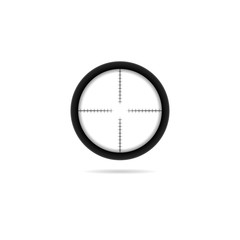 Sniper target crosshairs scope icon isolated on white background.