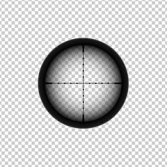 Sniper automatic rifle crosshairs. Gun viewfinder target icon.