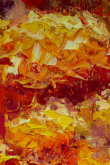 Abstract fire textural background oil painting fine art