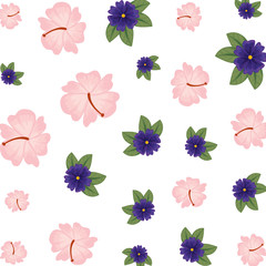 flowers and leafs decorative pattern