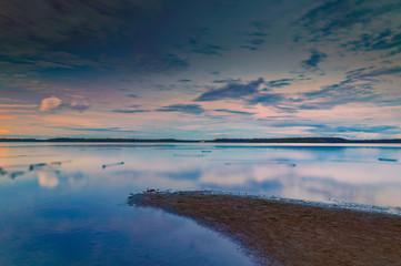 Charming sunset on Lake Valdai