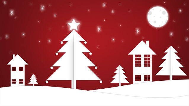 Weihnachtsdorf - rot