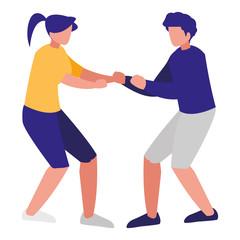 fitness couple design