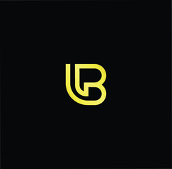 Outstanding professional elegant trendy awesome artistic black and gold color LB BL initial based Alphabet icon logo.