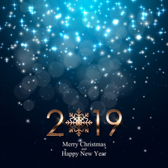 2019 New Year Background. Vector Illustration
