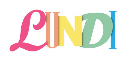 Bannière typographique coloré LUNDI