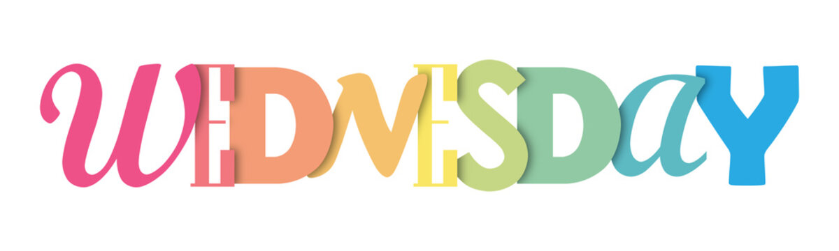 WEDNESDAY colorful typography banner