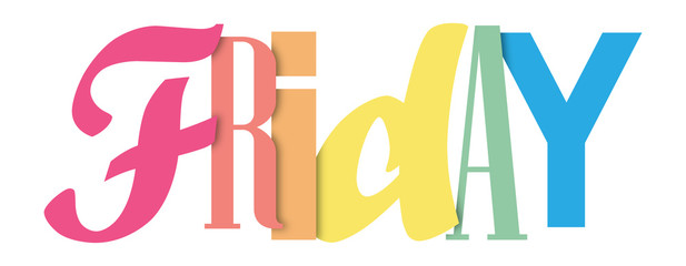 FRIDAY colorful typography banner