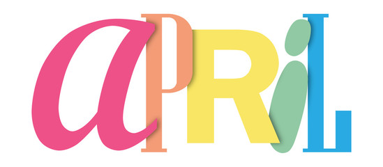 APRIL colorful typographic banner