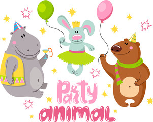 Animals party. 