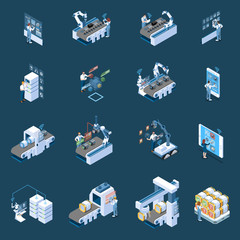 Smart Industry Isometric Icons