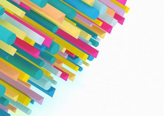Pattern of multi coloured bars