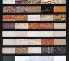 Marble Tiles Colour Samples