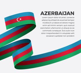 Azerbaijan flag for decorative.Vector background
