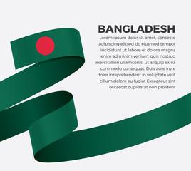 Bangladesh flag for decorative.Vector background