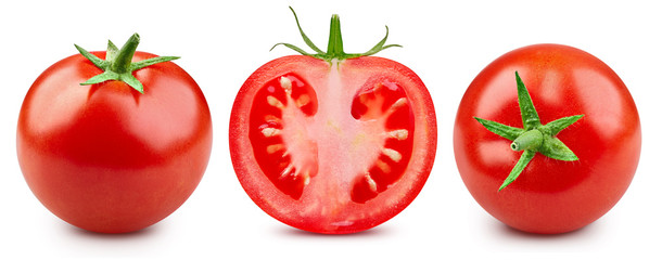 Photo sur Plexiglas Légumes frais Tomatoes isolated on white